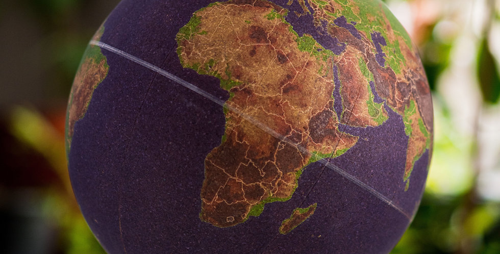 Pinpoint Your Travels with our Cork Globe. Stick pins in the places you've been or plan your future travels.