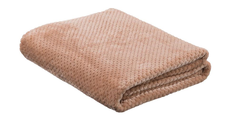 Nude coloured super soft blanket