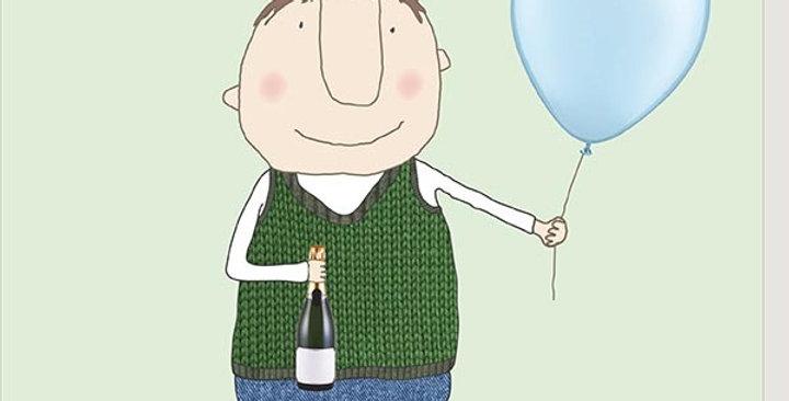 Happy Birthday Dad birthday card saying you are a ledge