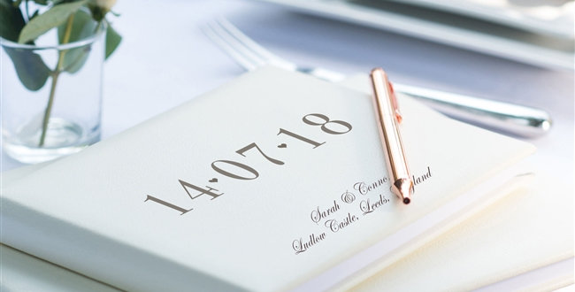 personalised special date guest book