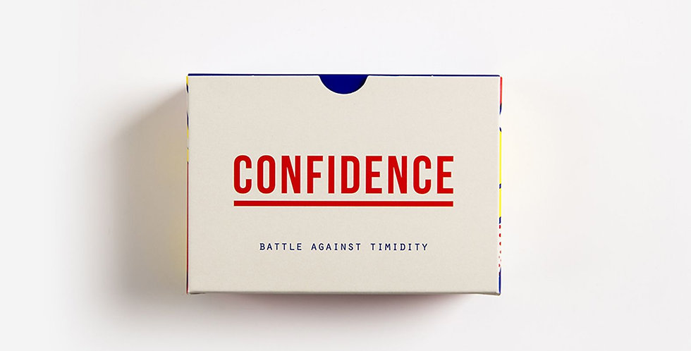 60 prompt cards with ideas and questions designed to help you find confidence and battle against timidity.