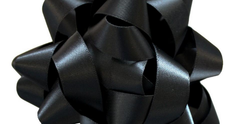 jet black silk gift bow