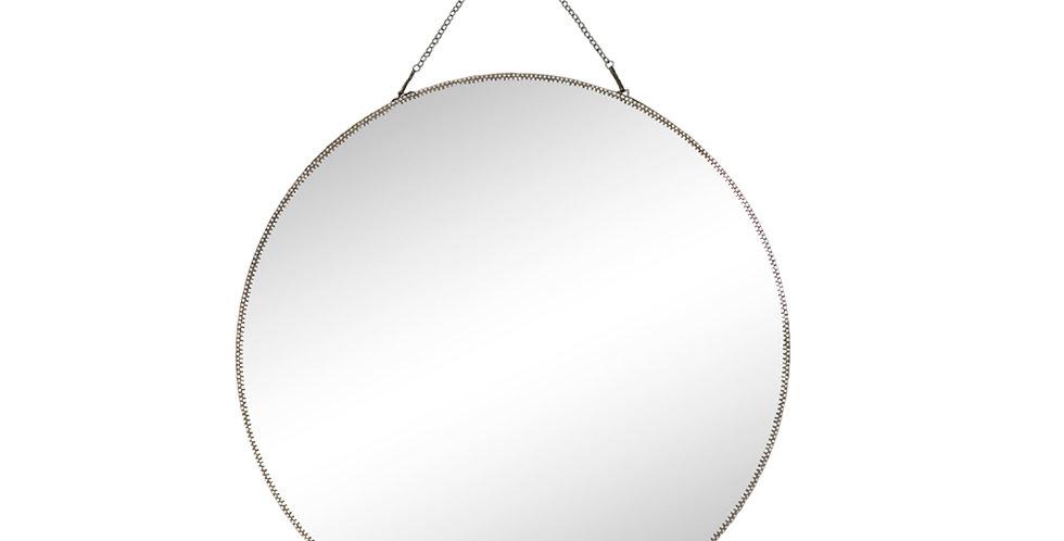 Brass Mirror with Chain 50cm