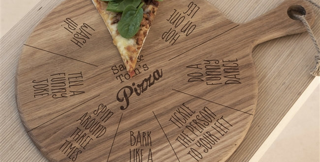 fun kids pizza board with game