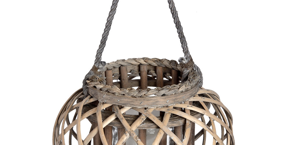 Large Wicker Basket Lantern