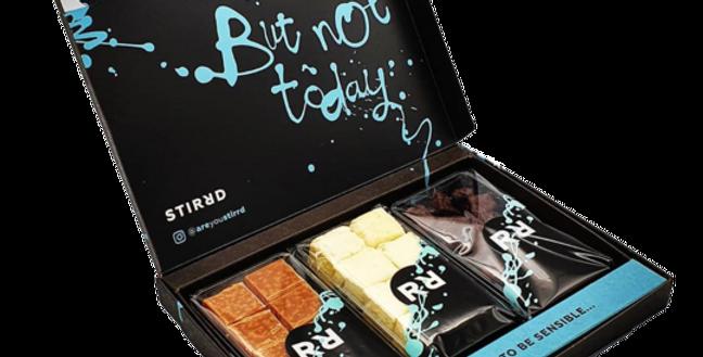 Stirrd fudge subscription box featuring 3 types of fudge