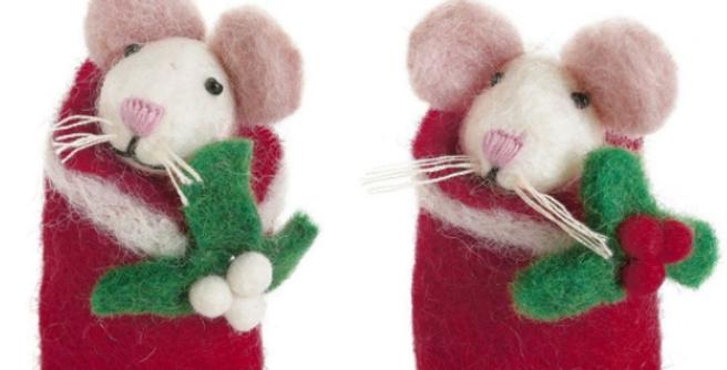 Swaddling Mice with Holly & Mistletoe