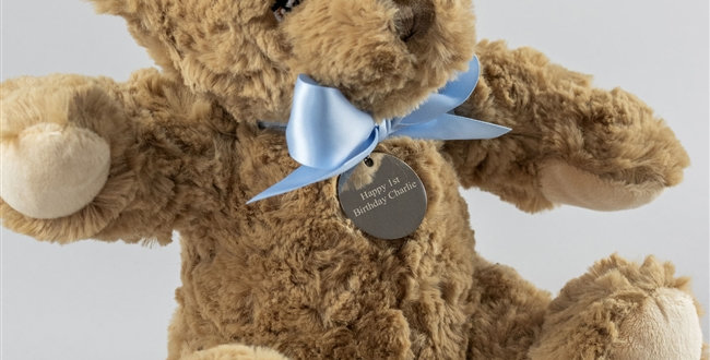 New Baby Boy Personalised Bramble Bear