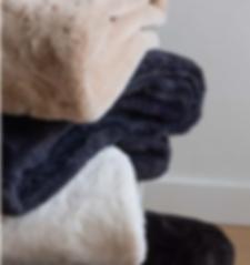 Velvet faux fur rabbit blankets