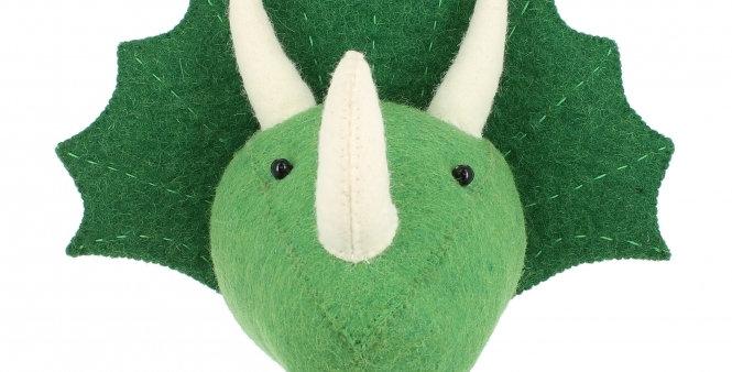 Mini Triceratops Wall Head