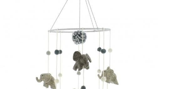 Cute elephant mobile for nurseries