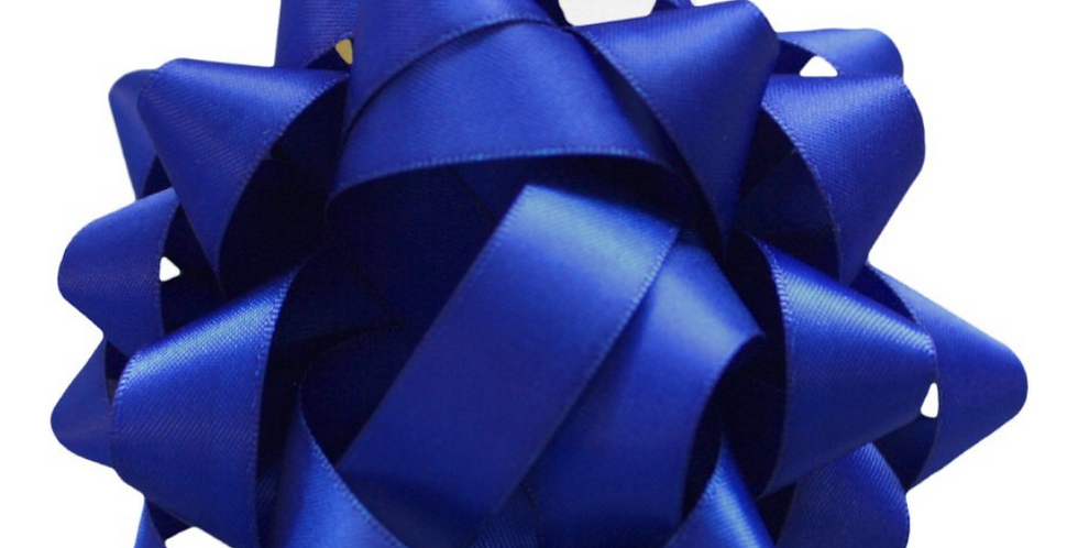 Royal blue luxury gift silk bow