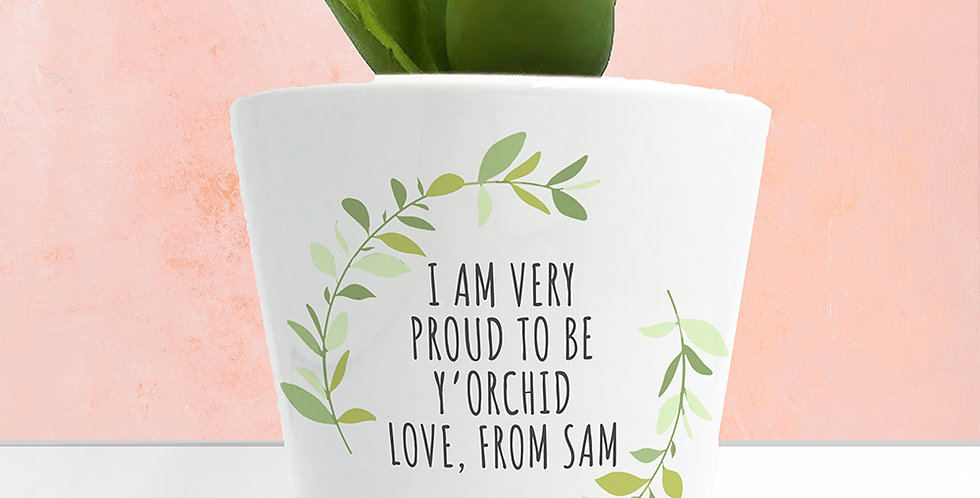 Personalised Love Mum Mini Plant Holder