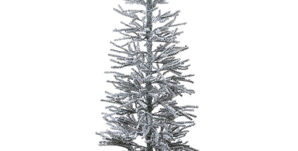 large frosted christmas tree in hessian pot