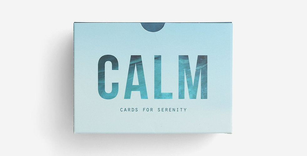 Calm cards - 60 prompt cards designed to help you find perspective on life's sorrows and regrets.