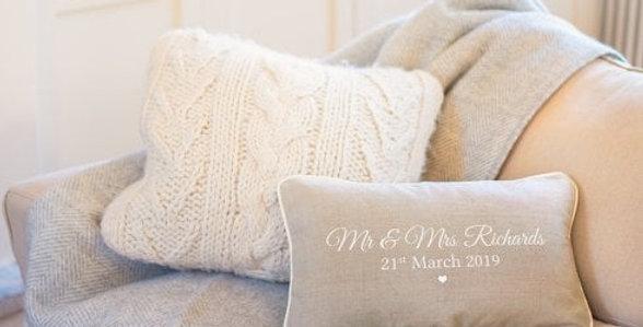 wedding gift personalised wedding cushion