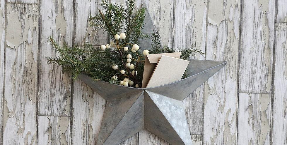 zinc wall star Christmas decoration