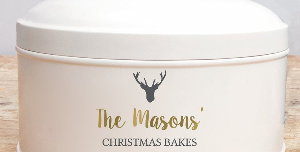 Personalised Stag Cake Tin