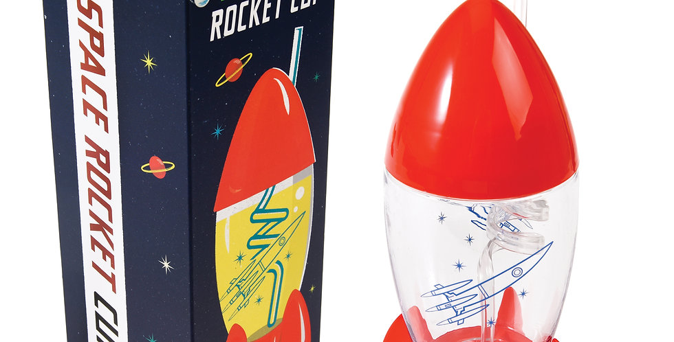 Rocket shaped drinking cup
