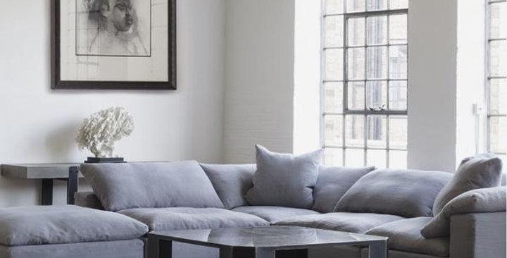 Truman Large Grey Linen Sectional Sofa