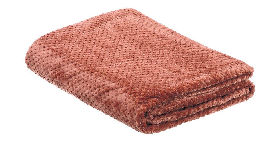 Terracotta coloured super soft blanket