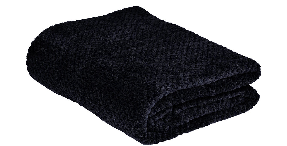 Indigo coloured super soft blanket