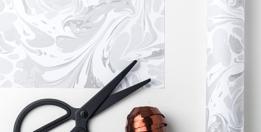 Stylish marble wrapping paper