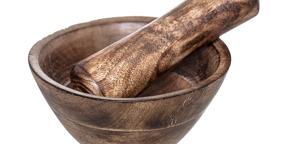 Mango Wood Mortar & Pestle