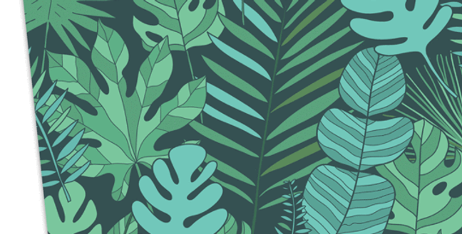 stunning wrapping paper featuring jungle leaf pattern