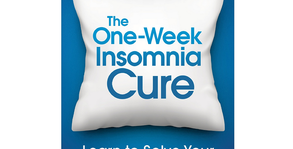The one week insomnia cure helps you learn how to solve your sleeping problems
