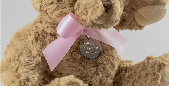 New Baby Girl Personalised Bramble Bear