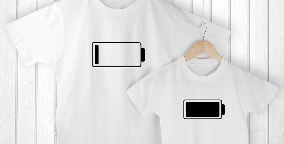 Mummy and Me Low Battery T Shirts