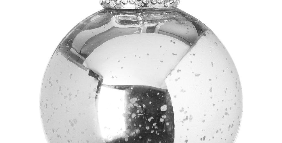 silver crackled bauble