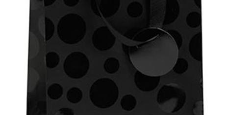 Black matt gift bag (medium) with varnish spot pattern