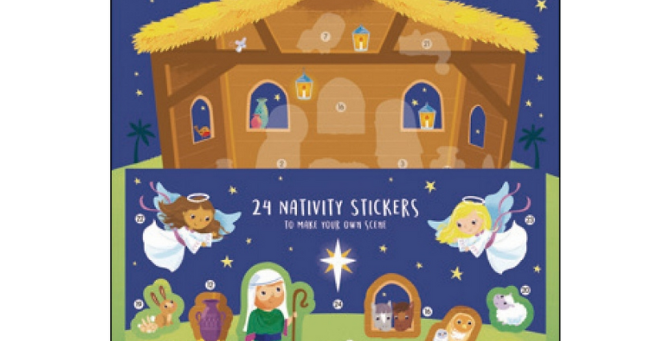 Away In A Manger Nativity Advent Calendar with Stickers