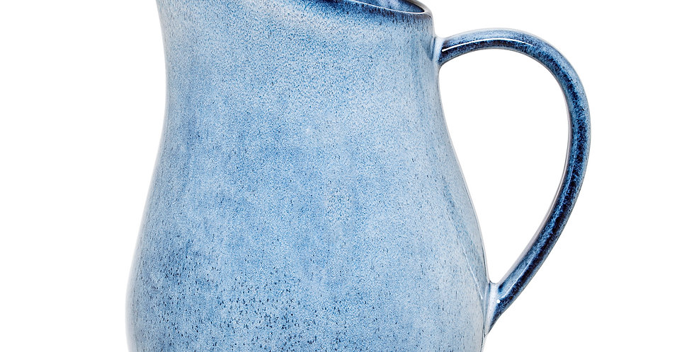 Sandrine stoneware jugisglazed in a lovely blue colour and has a generous, eye-catching shape