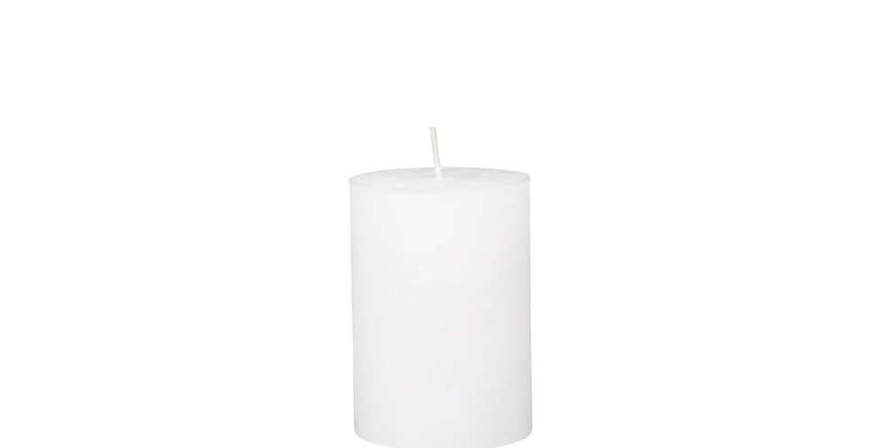 40 hour white coloured rustic style candle