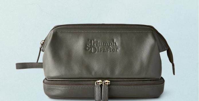 'Olive the Dopp' is Triumph & Disaster's take on the classic toiletries bag