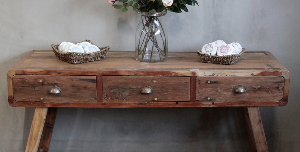 Console Table made from recycled wood in Bali