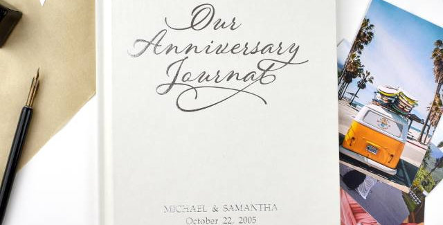 document each of your anniversaries with this lovely our anniversary journal