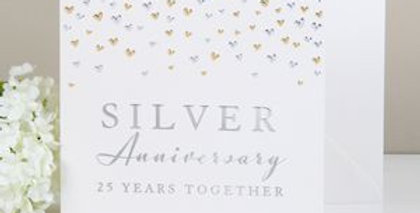 Silver Anniversary card for a couple