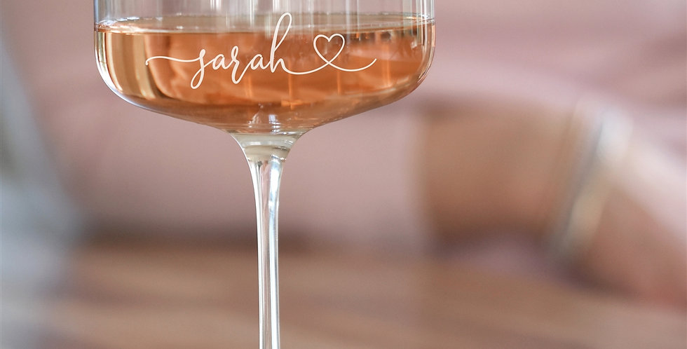 Heart Crystal Champagne Coupe Glass