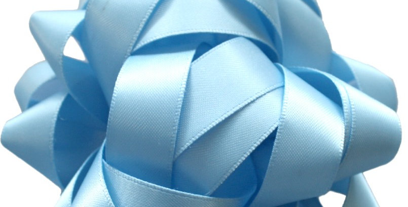 Luxury soft blue silk bow perfect for gift wrapping