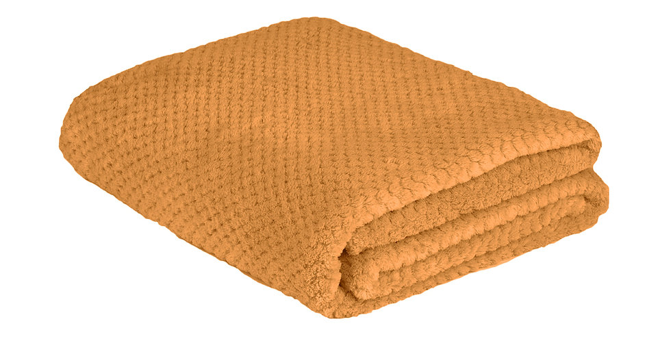 curry yellow coloured super soft blanket