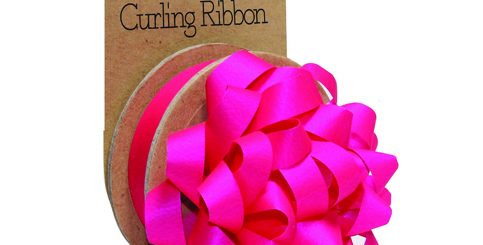 fuschia silk bow with matching reel of ribbon