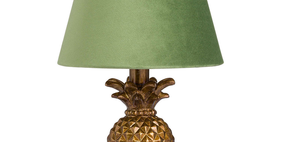 stunning pineapple gold base table lamp with green lampshade