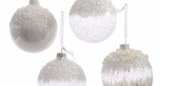 Snow Inspired Glass Baubles