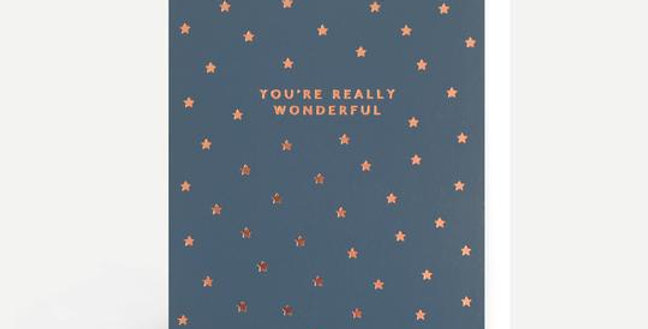 Stylish anniversary card that says You're Really Wonderwall