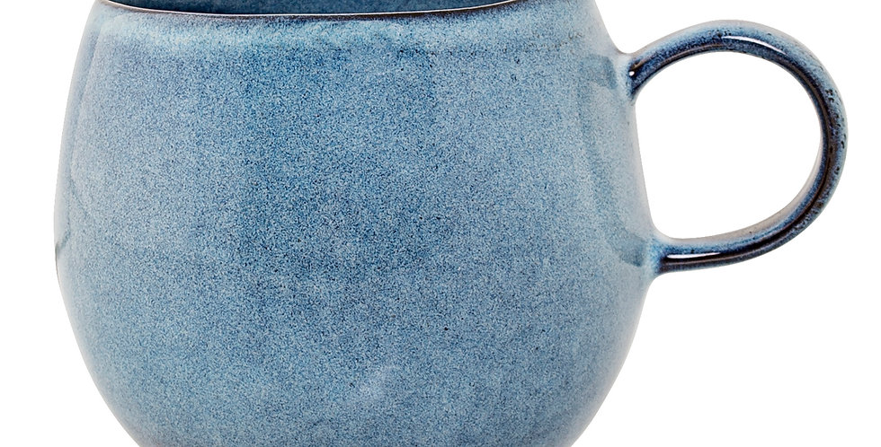 Sandrine blue stoneware mug