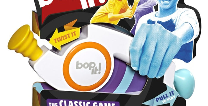 Bop It! is classic game of bop it, twist it, pull it has been loved for years!
